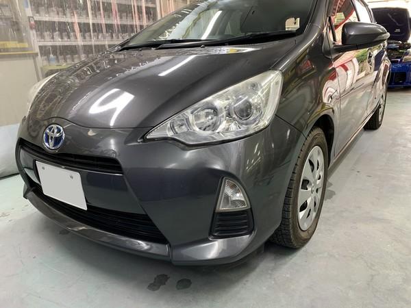 トヨタ アクア ロッカーパネル 板金 塗装 相模原市