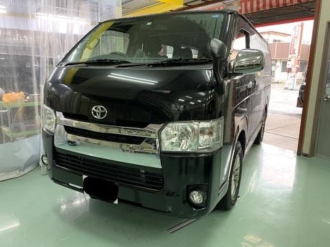 トヨタ ハイエース フロントまわり 保険修理 相模原市
