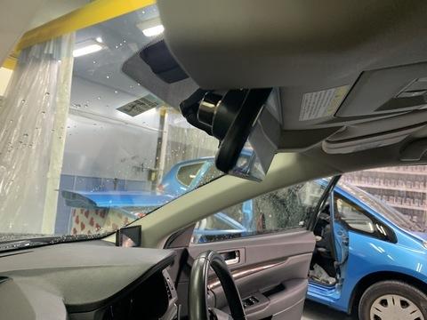 スバル レガシー ドライブレコーダー取り付け パーツ持ち込み 相模原市