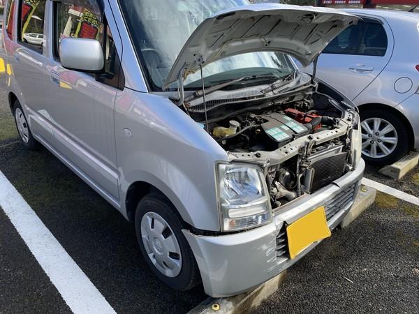 スズキ ワゴンR フロントまわり 事故 保険修理 相模原市